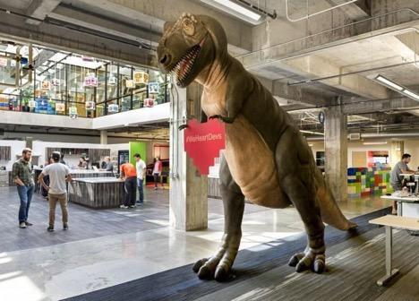 innovation office dinosaur